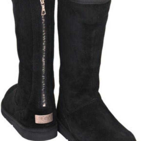 8390336a05a Ugg Uggs Black Knightsbridge Tall Zipper 5.5